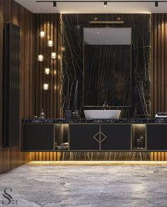 Portfolio: Villa in Moscow region Washroom Design, Vanity Design, Toilet Design, Luxury Home Decor, Luxury Interior, Modern Interior Design, Modern Luxury Bathroom, Bathroom Design Luxury, Bathroom Layout