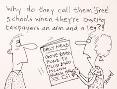 My cartoon - Coalition row over the funding of school places  #Gove #FreeSchool   pic.twitter.com/R7RbiHApkM