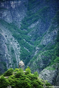 This is near Tatev monastery, in Armenia.