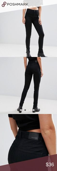 Vera Moda Tall Zip Ankle Skinny Jean ASOS Vera Moda Tall Ankle Zip Skinny Jean Size small (uk size 8-10/ US 4-6)  Stretch denim High waist 38% Polyester, 36% Cotton, 23% Viscose, 3% Elastane Inseam 31' Great Condition - one week old Ships tomorrow  (Ideal for women 5ft 9 or taller) ASOS Jeans Skinny