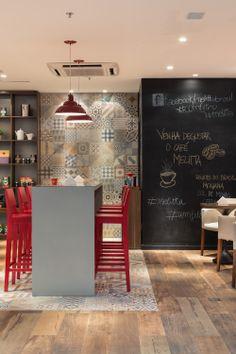 Cafeteria Melitta / Studio Menta www.studiomenta.com Cafe Interior, Shop Interior Design, Cafe Design, Cafeteria Design, My Coffee Shop, Sweet Home, Dinner Room, Café Bar, Restaurant Design