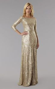 David Miester gold gown (Mother of Bride) - I am considering purchasing and shortening.  David Meister makes this gown in plus size, shortened - see pin
