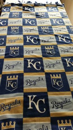 Just got done making this warm fleece KC Royals blanket for my Etsy store at https://www.etsy.com/listing/205111540/kansas-city-royals-fleece-stadium  Sold fast!!