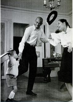 Family time! Geoffrey Holder, wife Carmen de Lavallade, and son Leo, circa 1960.