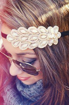 Let Her Go Headband: Cream
