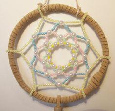 Handmade Beaded Dreamcatcher Easter Inspired by TheseBeadedDreams.etsy.com, 20.00