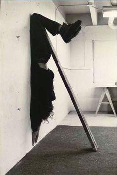 Jan Bas Ader- Unusual balance- Gravity art.