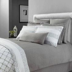 product image for Downtown Company Urban Quilted Cotton Coverlet Set in Quarry Gray