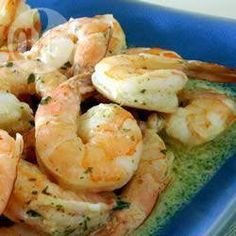 Baked Shrimp Scampi with hint of Dijon Lobster Recipes, Shrimp Recipes, Fish Recipes, Baking Recipes, My Favorite Food, Favorite Recipes, Baked Shrimp Scampi, Garlic Prawns, Good Food