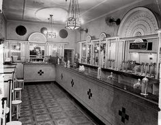 The Black and White 4d Milk Bar in Martin Place, Sydney, 1934