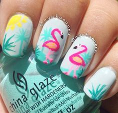 Flamingo nails!!