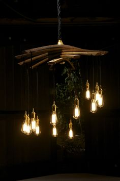 Wine Barrel Stave Chandelier - or maybe this one?
