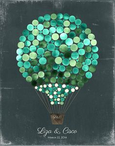 Guest Book Alternative Print Hot Air Balloon by OnceUponaPaper
