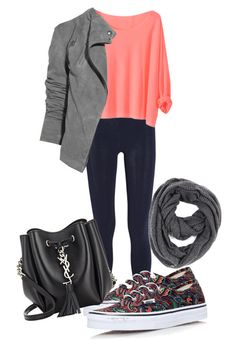 #Casual by lululafitte on Polyvore featuring moda, T By Alexander Wang, Vans, Yves Saint Laurent, Paula Bianco and Lot78