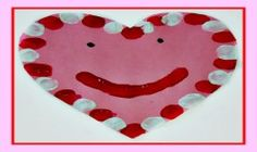 PRESCHOOL VALENTINE'S DAY: Thumbprint Heart Craft and Valentine Song!
