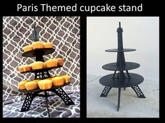 Eiffel Tower stand cupcake holder cupcake stand by craftszigzag