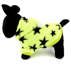 ESINGYO Pet Puppy Apparel Small Dog Cat Clothes Fleece Stars Hoodies Winter Coat Jacket Costume Clothing Green S ** Visit the image link more details.
