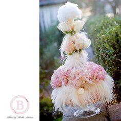 Marie Antoinette wedding - centerpieces but upside down
