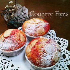 いちご風味のマーブルケーキ