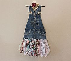 Eco Overall Dress  Women's Clothing  Upcycled by AmadiSloanDesigns, $75.00