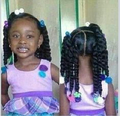 Ponytail hairstyles for little girls 28 braid styles for your little girl as she heads back to school . Childrens Hairstyles, Lil Girl Hairstyles, Natural Hairstyles For Kids, My Hairstyle, African Hairstyles, Ponytail Hairstyles, Black Hairstyles, Toddler Hairstyles, Princess Hairstyles