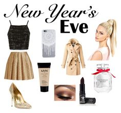 """""""#NewYearsEve"""" by chloefergie14 ❤ liked on Polyvore featuring Topshop, Creatures Of The Wind, Sebastian Milano, Burberry, Victoria's Secret, Manic Panic and NYX"""