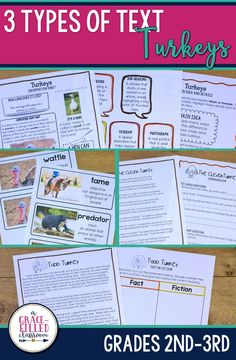 This Thanksgiving season, read informational text all about turkeys. Students will not only read nonfiction text about turkeys, they will also read a story and a poem. Practice reading comprehension skills with a fun topic!
