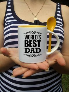 Best dad Personalized mug Keep calm Coffee mug Housewarming