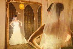 Bride Mirror Shots wedding Photo ideas       Photo by Binh Nguyen Seattle Wedding Photographer