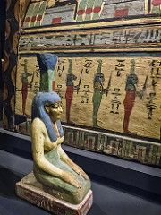 Guardian statue of Nephthys, sister of Osiris, mourning the deceased Meret-it-es Egyptian 30th Dynasty to early Ptolemaic Dynasty 380-250 BCE (mharrsch) Tags: coffin death burial funerary 30thdynasty ptolemaicdynasty lateperiod ptolemaicperiod religion myth nephthys goddess deity ancient nelsonatkins museum kansascity missouri mharrsch