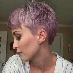 Lavender hair and pixie cut - Short Bob Hair Styles Bob Hair Color, Hair Color And Cut, Pastel Purple Hair, Pink Hair, Short Lavender Hair, Very Short Pixie Cuts, Edgy Hair, Short Bob Hairstyles, Short Hair Styles
