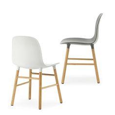 Form stol - Form stol - grå, valnötsben
