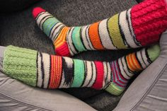 Kreisit polvisukat / Knitted crazy woolsocks