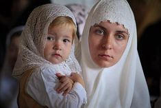 Orthodox Christian mother and child. Old Believers, Religion, Orthodox Christianity, Orthodox Prayers, Chapel Veil, Bride Of Christ, Russian Orthodox, Portraits, People Of The World
