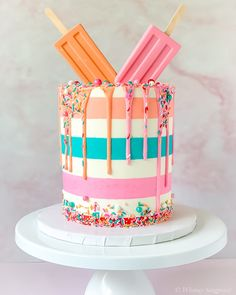 Candy Birthday Cakes, Birthday Cake Girls, 2nd Birthday, Birthday Ideas, Birthday Parties, Ice Cream Cone Cake, Ice Cream Party, Summer Cakes, Summer Desserts