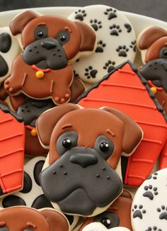 Dog Face Cookies from an Onesie cookie cutter