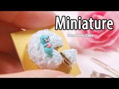 미니어쳐 벌집 케이크 만들기 Miniature * Beehive Cake - YouTube