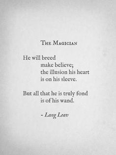 the magician - lang leav