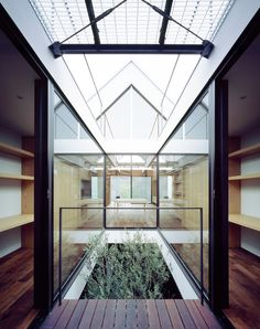 This Japanese house has an almost entirely symmetrical layout.