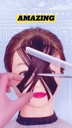 Hair Cutting Videos, Hair Cutting Techniques, Hair Videos, Cutting Hair, Medium Hair Styles, Curly Hair Styles, Natural Hair Styles, Hair Braiding Styles, Hair Upstyles