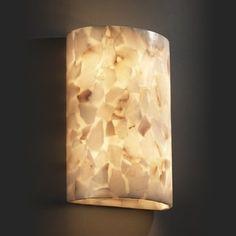Justice Design Group Alabaster Rocks! 2-light Wall Sconce