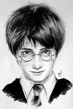 Harry Potter by MatyldaSzytula on DeviantArt Harry Potter Sketch, Arte Do Harry Potter, Harry Potter Painting, Dobby Harry Potter, Harry Potter Artwork, Harry Potter Wand, Harry Potter Anime, Harry Potter Wallpaper, Harry Potter Movies
