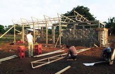 Edificio educacional en Mozambique