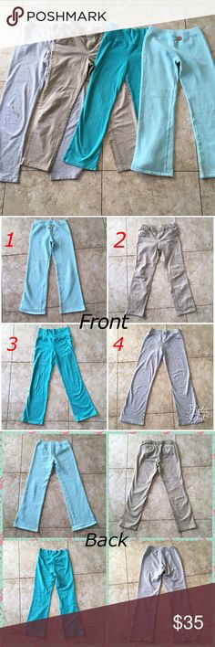 BUNDLE OF 4 Kids Pants All Boot Cut, Diff Sizes All details on each pant in last pic or look at my individual listings for these. Ask any questions you have. Great deal for 4 great condition pants! All fits between 10-14 girls or boys. multiple brands Bottoms