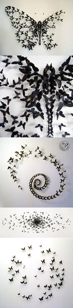 Butterfly Installation by Paul Villinski