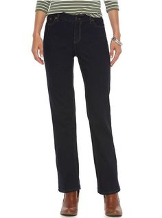 Chaps Womens Straight Leg Jeans Slimming Mid Rise Rinse Petites size 6P NEW  https://www.ebay.com/itm/332558937912