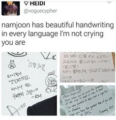 Namjoon handwriting