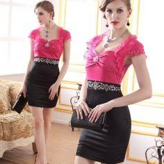 Exquisite noble low-cut bowkont lace daimond party dresses N...
