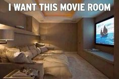 I love this theater room