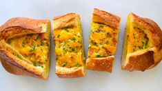Make breakfast a breeze with this quick recipe for how to make baked egg boats. RECIPE: http://www.justataste.com/cheesy-baked-egg-bacon-boats-recipe/